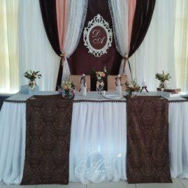 Шоколадно-персиковая свадьба